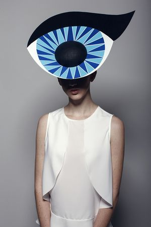Blue eye hat