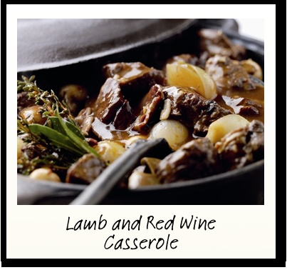 Lamb and Red Wine Casserole