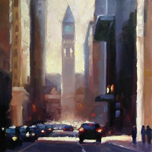 """Verticals on Bay Street, Toronto"" - Original Fine Art for Sale - © Catherine Jeffrey"