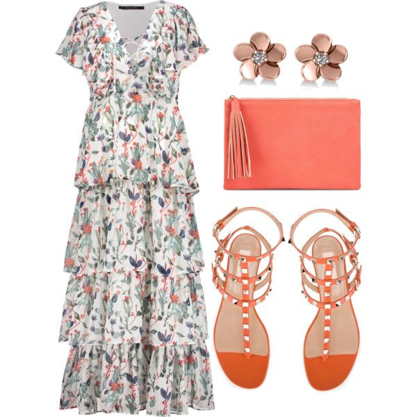 Untitled #574 by chrylpeterman on Polyvore featuring W118 by Walter Baker, Valentino, Jessica McClintock and Allurez