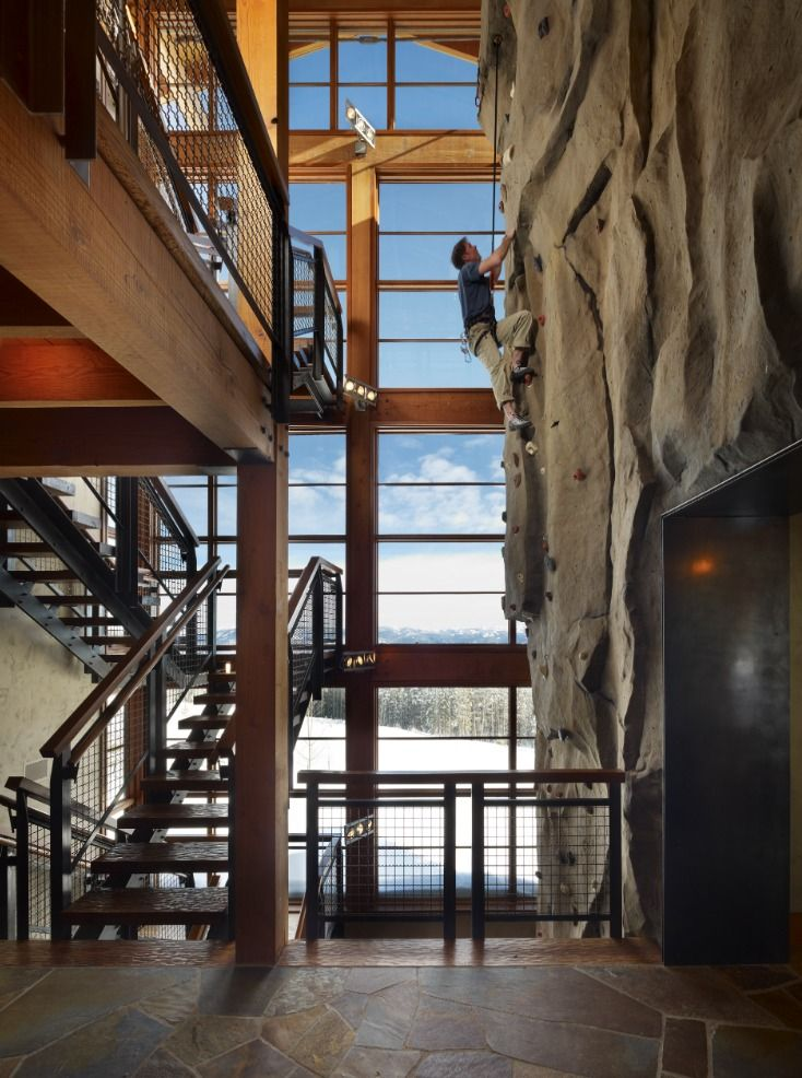 How cool is this indoor climbing wall in a house . Antique ledges...  http://beta.trendsideas.com