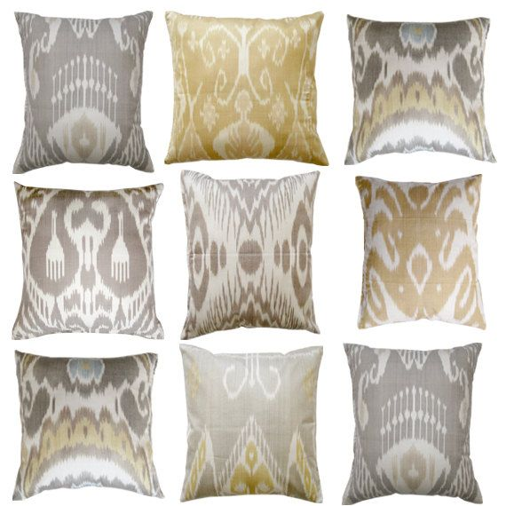Pretty Pillows in a color palette that would coordinate well with metalics.