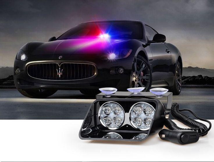 8 Вт Лобового Стекла тире Свет Строба Сид S8 Viper Автомобиль Мигающий Сигнал Аварийного Пожарный Полиции Маяк Сигнальная лампа Красный Синий янтарный