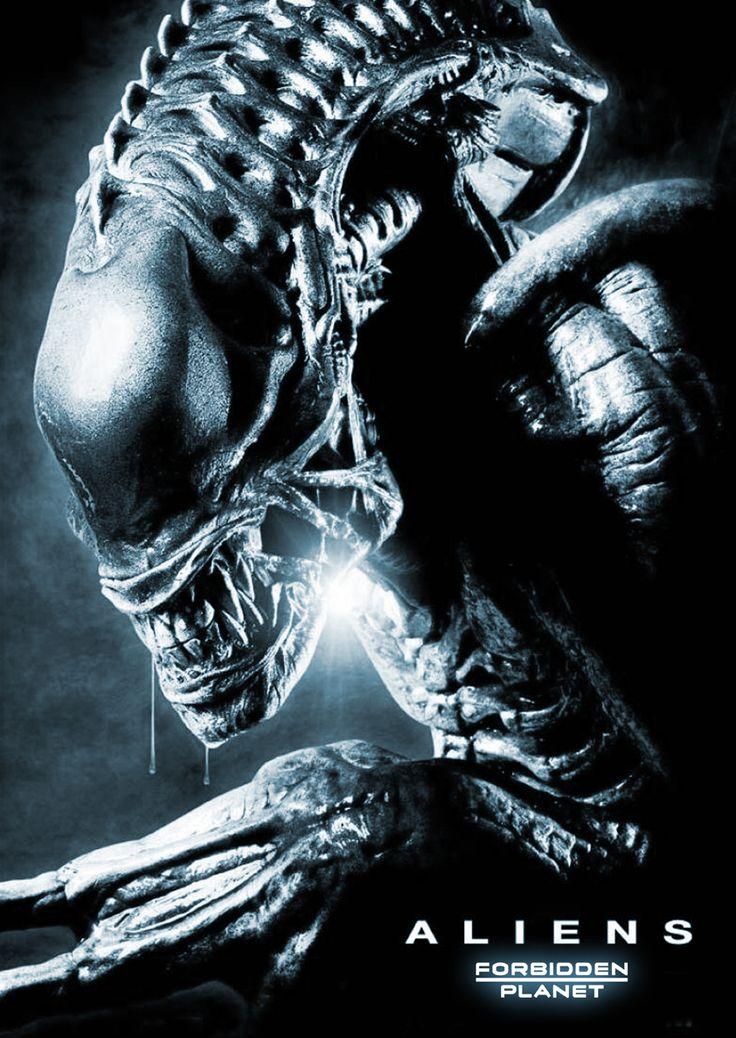 Forbidden Planet Aliens window display poster.