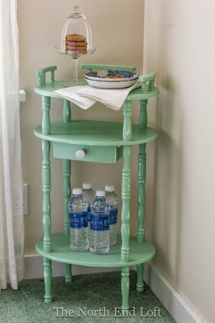 The North End Loft: Guest Room Bedtime Snack Table