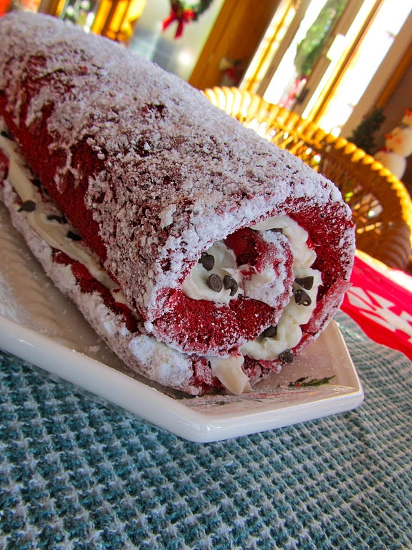 Red Velvet Cake Roll | recetas deliciosas | Pinterest