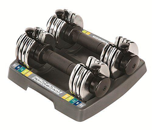 ProForm 25-lb. Adjustable Dumbbell Set http://adjustabledumbbell.info/product/proform-25-lb-adjustable-dumbbell-set/