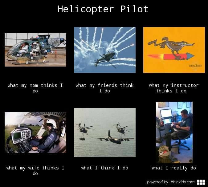 Helicopter pilots... Pilots 101 (Helicopters & Jet