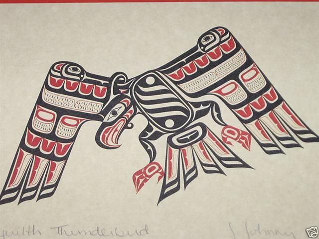 Native American Haida Thunderbird Symbol :Traits: Powerful ...