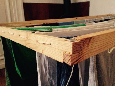 Einen hängenden Wäscheständer bauen - Geborgen Wachsen