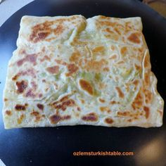 Cook the gozleme for about 2 -3 minutes on a non-stick pan, or until golden brown - they are delicious and easy to make