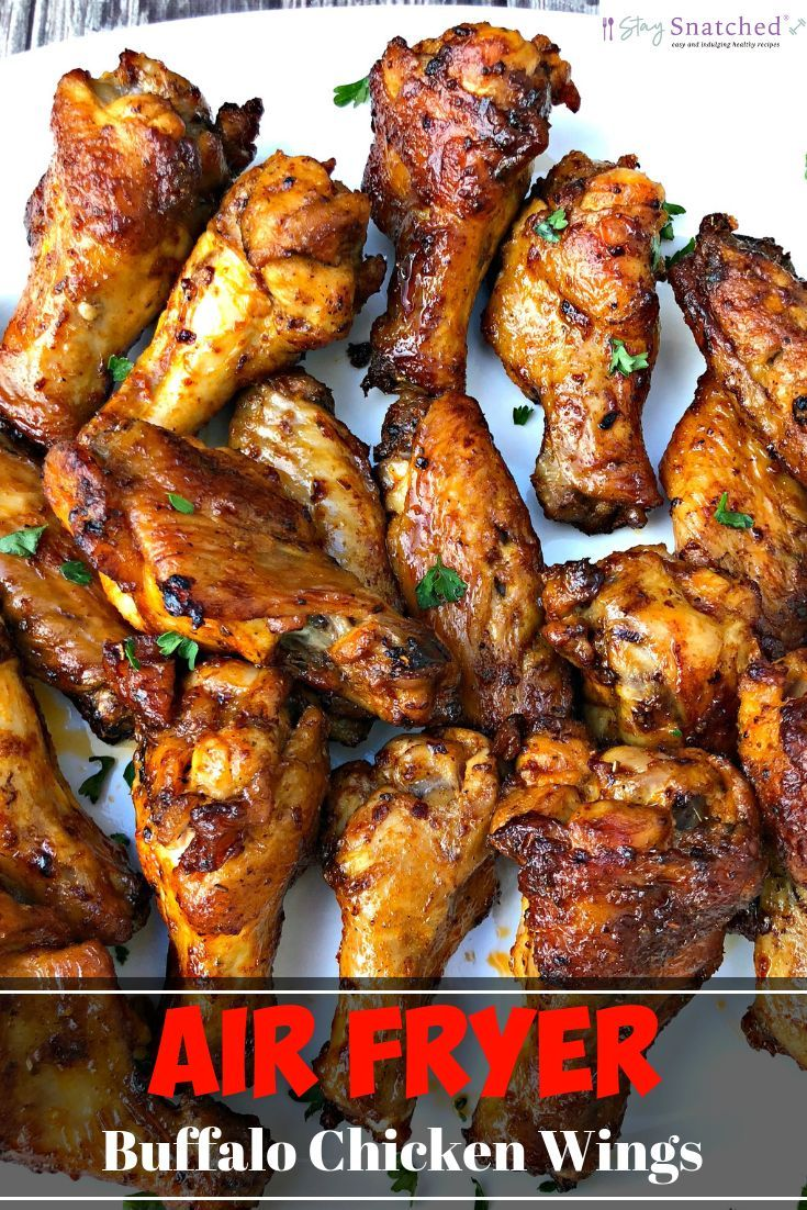 Air Fryer Crispy Buffalo Chicken Hot Wings Keto Low Carb Is A