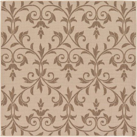 Unique Loom Outdoor Victorian Rug, Beige