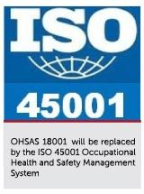 Did you know that ISO 45001 or Occupational Health and Safety Management Standard is all set to replace OHSAS 18001.