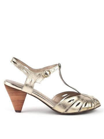 Seychelles Footwear Trip the Light Fantastic heel in gold... maybe as a back up if my perfect Curiosity heels don't come back in stock