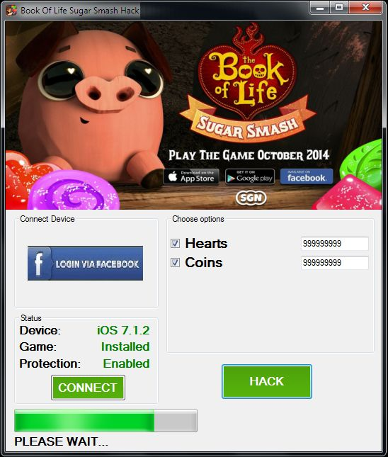 http://www.hackspedia.com/sugar-smash-book-of-life-facebook-hack-cheats-tool/