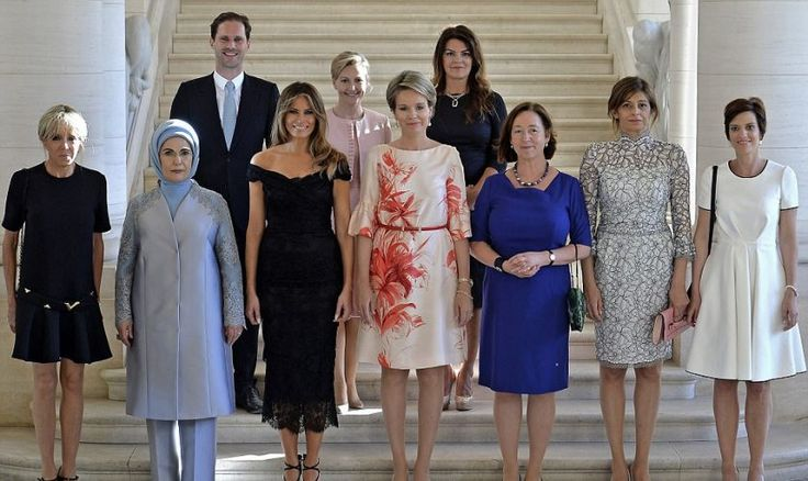 NATO SPOUSES – HUSBAND OF LUXEMBOURG'S GAY PRIME MINISTER JOINS OTHER NATO SPOUSES FOR A PHOTO SESSION IN BRUSSELS