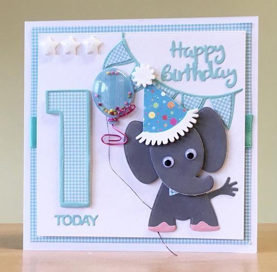 First Birthday Card Handmade 1st Birthday Card Giraffe Etsy Handmade Birthday Cards 1st Birthday Cards First Birthday Cards