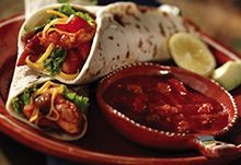 Salsa Chicken Salad Wraps