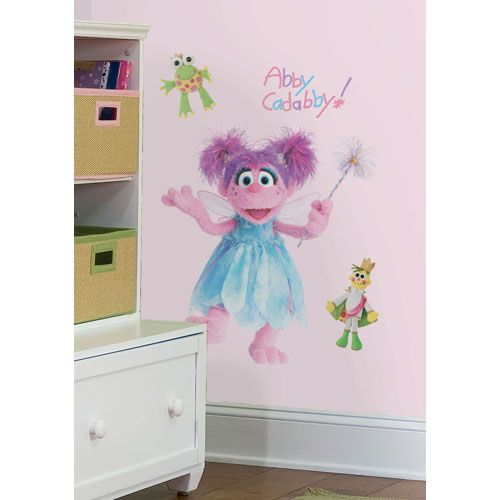 Sesame Street Abby Peel And Stick Giant Wall Decal Roommates Decor Wall Decal Kids Decor C