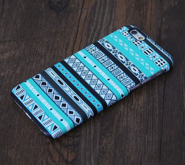 Turquoise Azte iPhone 6 Plus 6 5S 5C 5 4 Protective Case #635