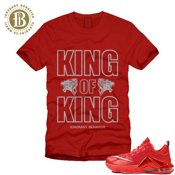 Nike Lebron 12 XII Low University ALL RED matching Tee -  www.IgnorantBehavior.com