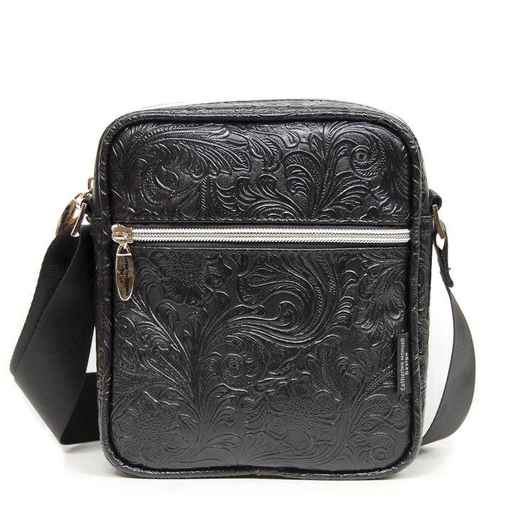 Small Walker Bag - Black Fleur-de-Lis