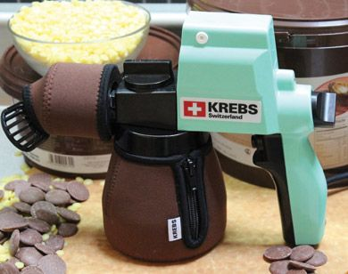 HOTCHOC Heated Spray Gun for Chocolate & Cocoa Butter