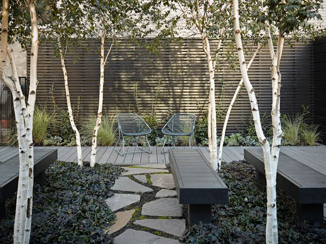 Modern Terrasse by Burns and Beyerl Architects