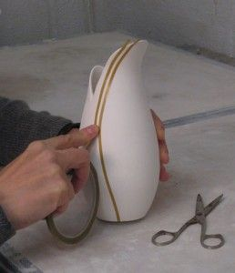 Use auto motive detailing tape to mask off areas before glazing!