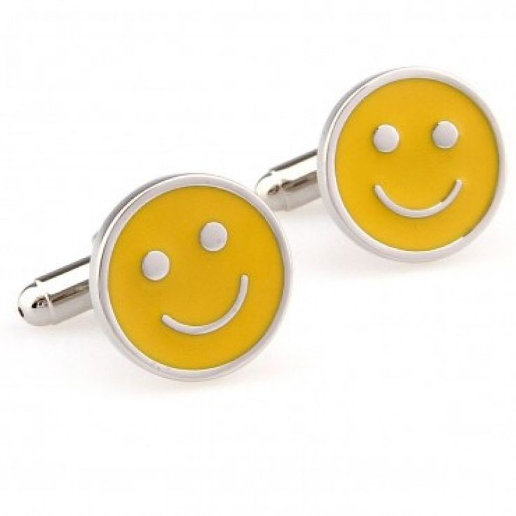 Yellow smiley face #Cufflinks #cufflinkspalace