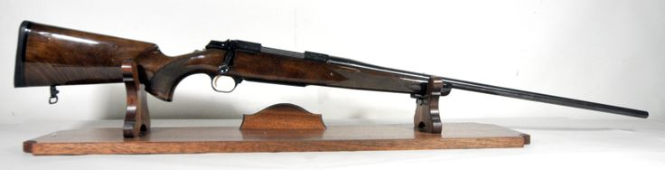 """Browning A-Bolt II Medallion .300 Win Mag. The A-Bolt is a bolt-action rifle designed by Browning, and manufactured by Miroku Corp in Japan. The Medallion variation features a glossed walnut stock with rosewood pistol grip and forend cap, high luster bluing, and scoll marked receiver. Drilled and tapped for scope mount, with no sights. Serial # 10xxxMV351 points to mfg in 2005. For .300 Win Mag. 26"""" barrel. 6.4 lbs. [pre-owned] $599.99"""