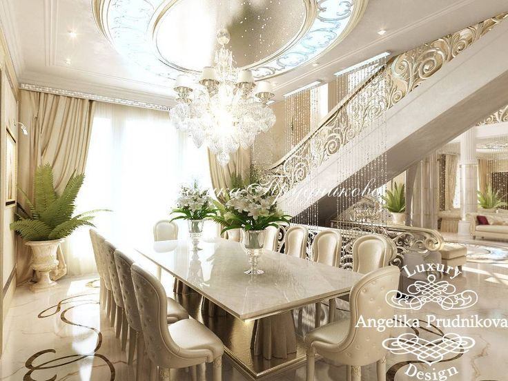 Интерьер роскошной гостиной в особняке. Фото 2017 - Дизайн дома