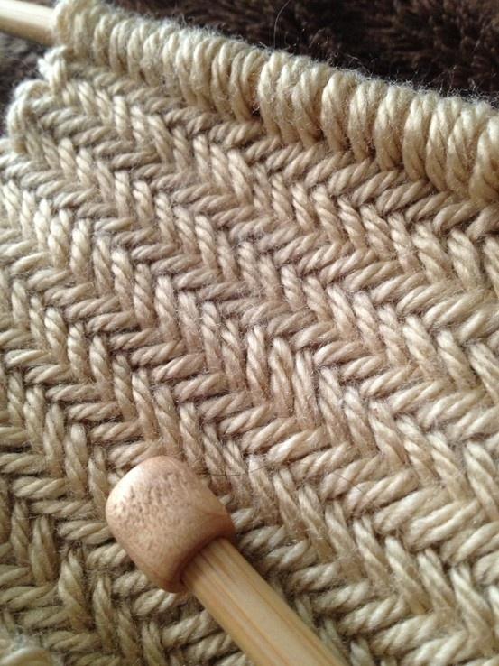 Knit Herringbone Pattern : Herringbone stitch Knitting Pinterest Stitches, Videos and Herringbone ...