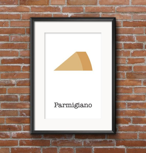 Poster kitchen Parmigiano / Wall poster food / by SketchChe