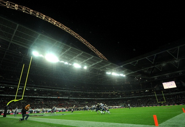 Great shot of Wembley Stadium during the NFL International Series match between the New England Patriots and the St. Louis Rams on 28 October 2012