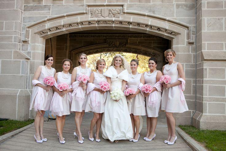 Bridesmaid Dresses In Neutrals Champagne Beige And Pale: Alfred Sung Champagne Bridesmaid Dresses, Pale Pink