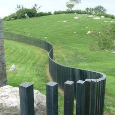 contemporary landscape by M Cohen and Sons - Just absolutely love this fence
