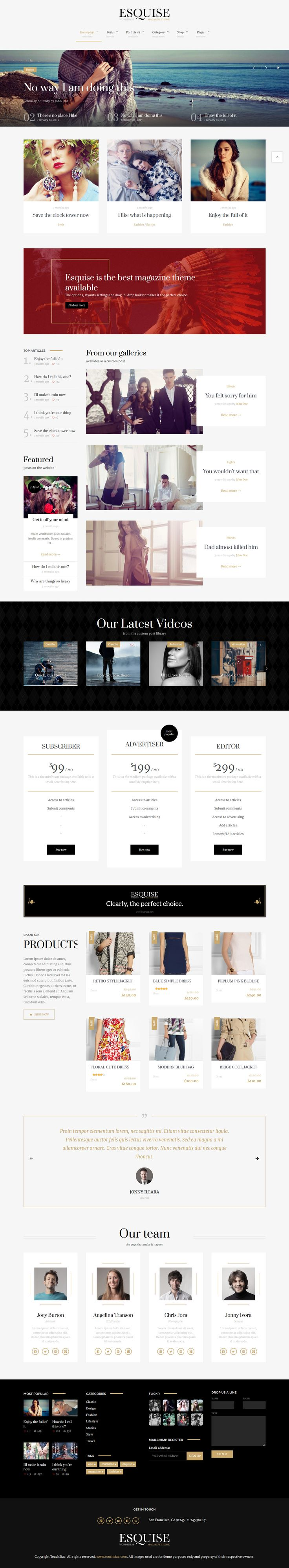 Esquise - Magazine WordPress Theme #web #wp #wordpress Demo and Download: http://ksioks.com/portfolio/esquise-magazine-wordpress-theme/