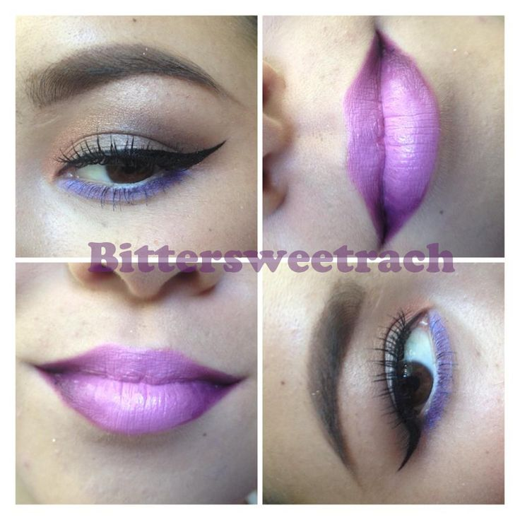Ombre lip and a smokey winged eye that I did hope you like!