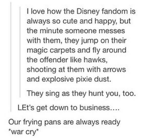 Our frying pans are always ready *War Cry*