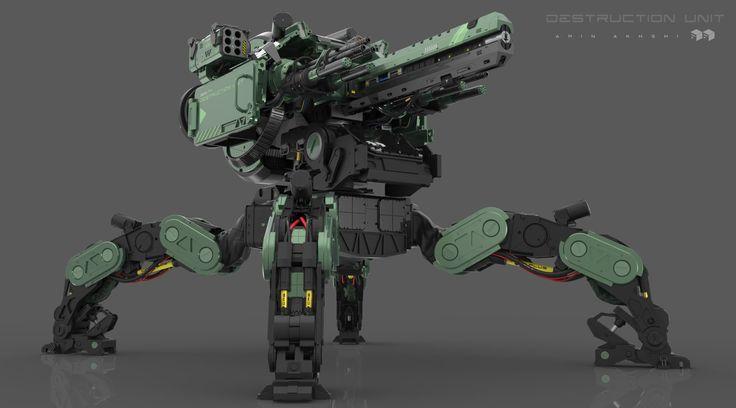 ArtStation - Destruction Unit ! , Amin Akhshi