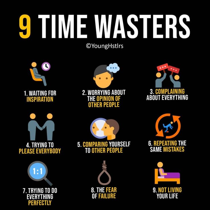 Life lessons time wasters