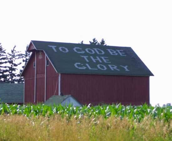 To God Be The Glory- now this I love :)Amen, God, Singing, Beautiful, The Farms, Glories Barns, Farmhouse Faith, Messages, Rooftops
