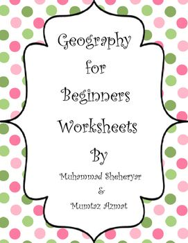 geography for beginners worksheets24 worksheets with answer keys22 landform cardsstandardsk