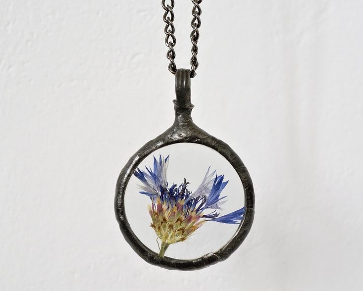 real plant necklace, botanical, dried plant, terrarium necklace, real flowers necklace, handmade by pentaxPL on Etsy