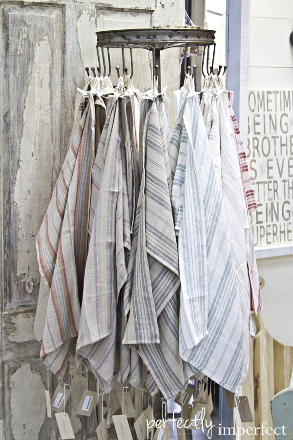 french, handmade tea towels | Perfectly Imperfect & The Chapel Market