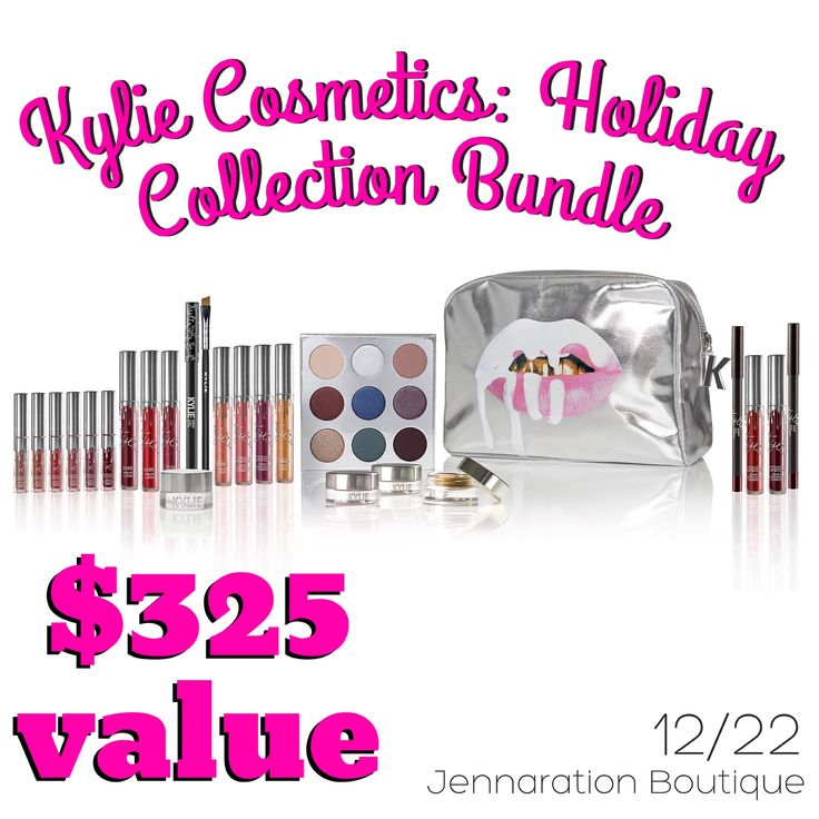 {DAY 22} 25 Days of Jenna's Faves — Today we're giving away a SOLD OUT LIMITED EDITION Kylie Cosmetics Holiday Collection Bundle ($325 VALUE!!!!) To enter: Repin and Like this photo! Enter on ALL social media sites for more entries (Instagram, Facebook, Facebook VIP group, Twitter, Snapchat, and Pinterest) Winner will be randomly selected on 12/31 and will be announced in the comments below ✨