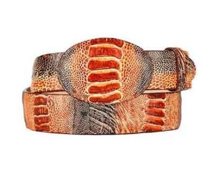 Shop Mens Ostrich, Caiman Skin Belt  #LeatherBelts #OstrichBelt #CaimanSkinBelt #MenAccessories #ShopNow #Mensitaly