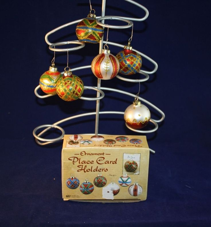 christmas ornament place card ornaments qty 6 giftco